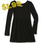 Basic Editions Girl's Embellished Long-Sleeve Dress