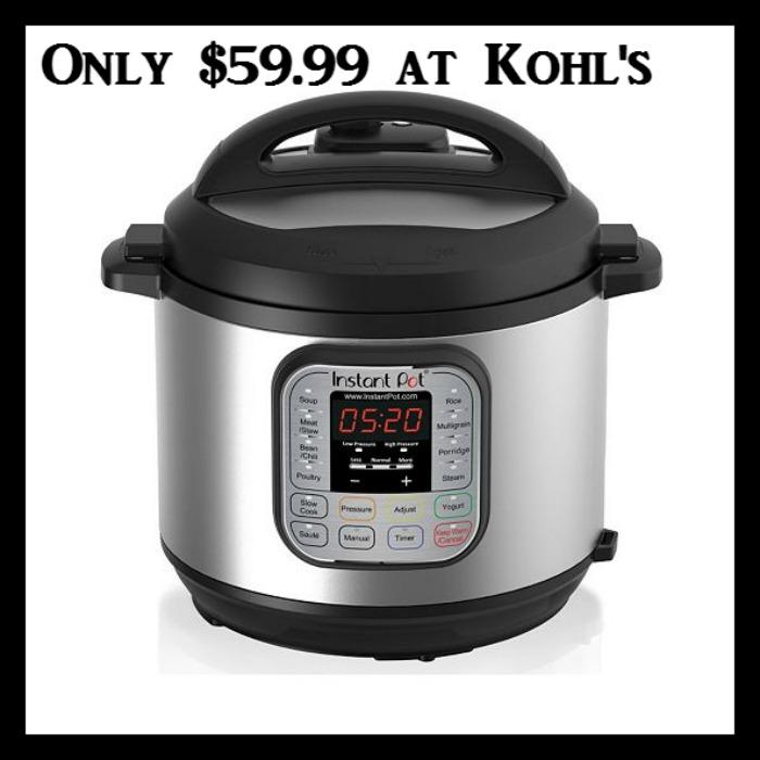 Pressure Cooker 8 Qt Kohl's: Instant Pot 7-in-1 6-qt. Programmable Pressure ...