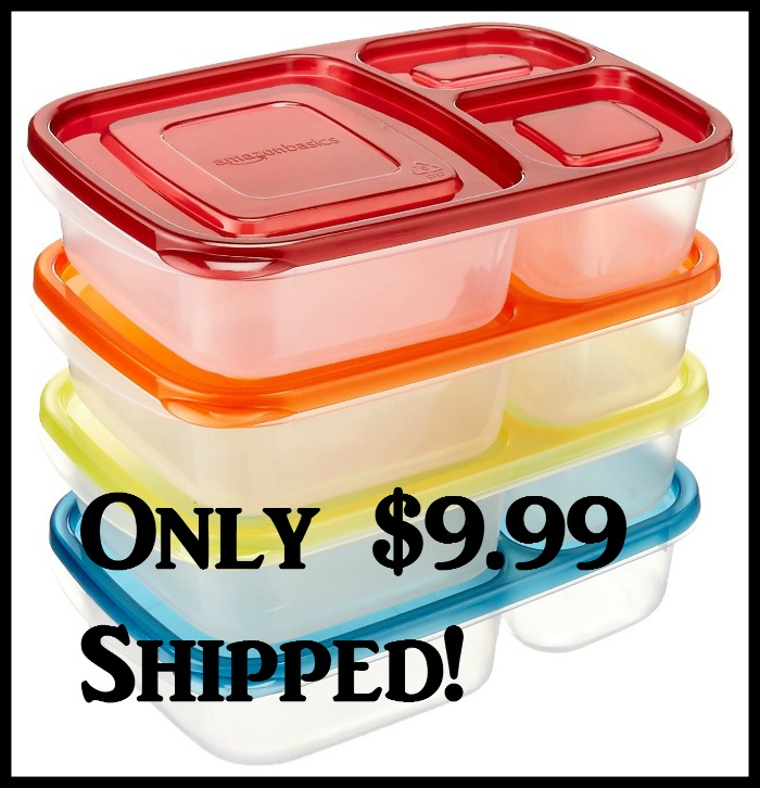 amazonbasics bento lunch box containers set of 4 only 9. Black Bedroom Furniture Sets. Home Design Ideas