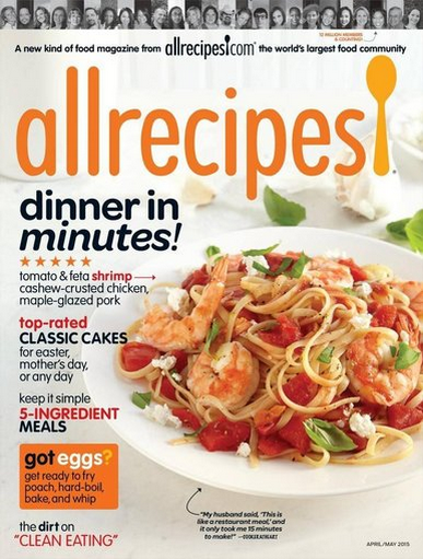 Allrecipes Magazine ONLY $4.99 Per Year (83% OFF