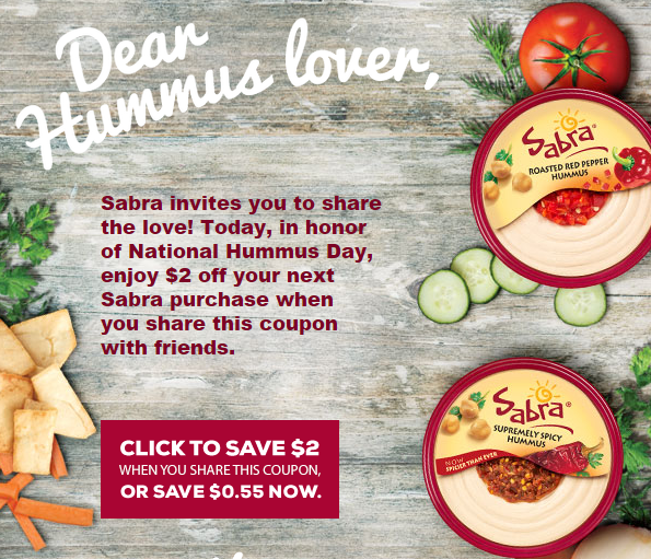 Sabra has a brand new offer available! This deal is for $1 off your purchase. You need to become a Sabra Ambassador to print out this coupon. Jusrt fill out the form and submit for the coupon .