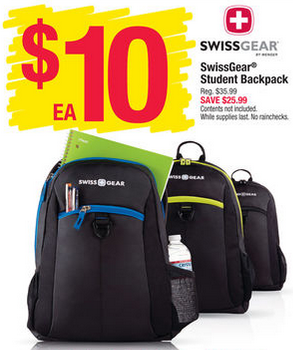 SwissGear Student Backpacks ONLY $10 At Office