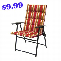 Jaclyn Smith Channeled Cushion Folding Chair
