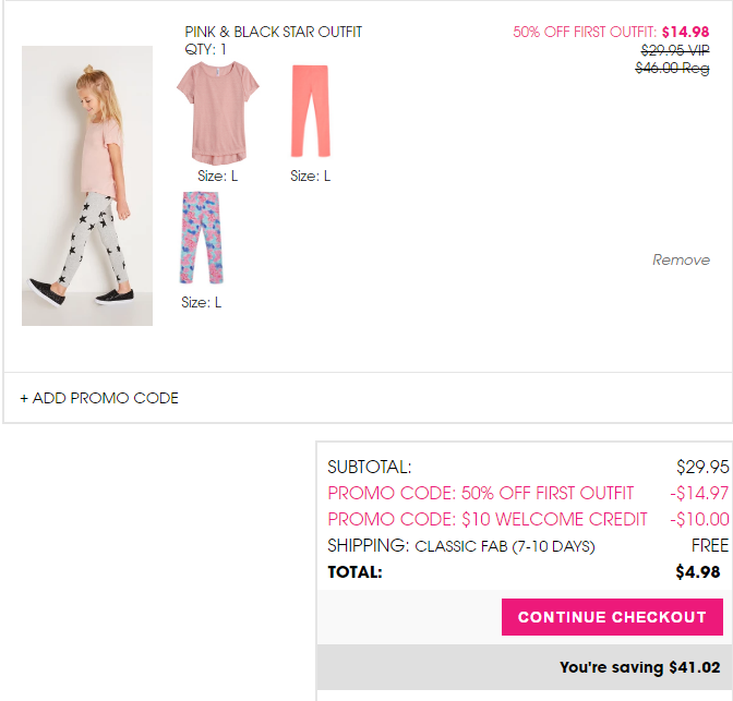 We provide a wide range of offers including online promo codes & deals, promotions & sales, and in-store printable coupons. We offer 1 promo codes and 31 deals of JustFab, which have been used by many customers and helped them save a lot.