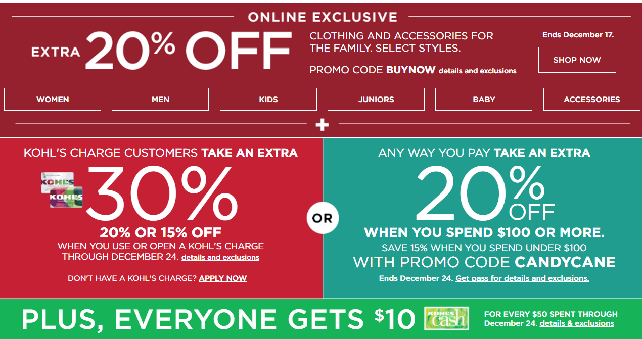 Kohl's stackable coupon august 2018