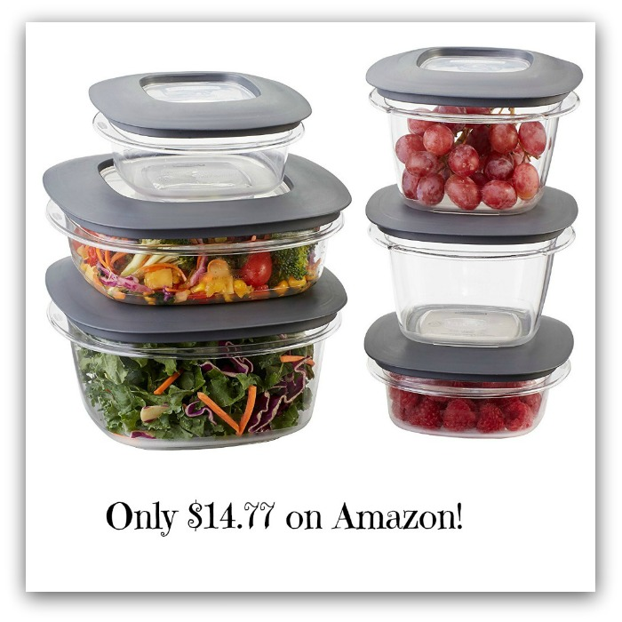 rubbermaid premier food storage containers 12 piece set only deal mama. Black Bedroom Furniture Sets. Home Design Ideas
