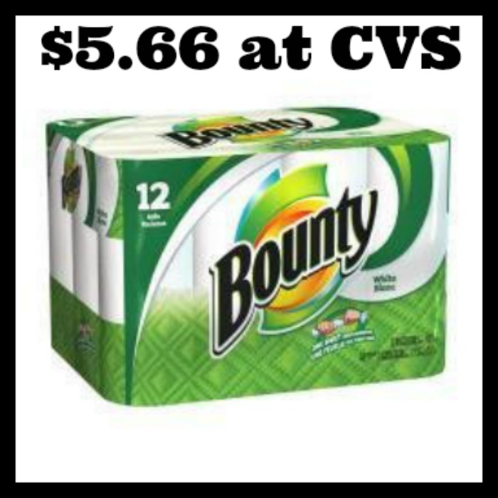 Bounty Paper Towels Cvs: Bounty Paper Towels 12 Rolls Only $5.66! (Starting 7