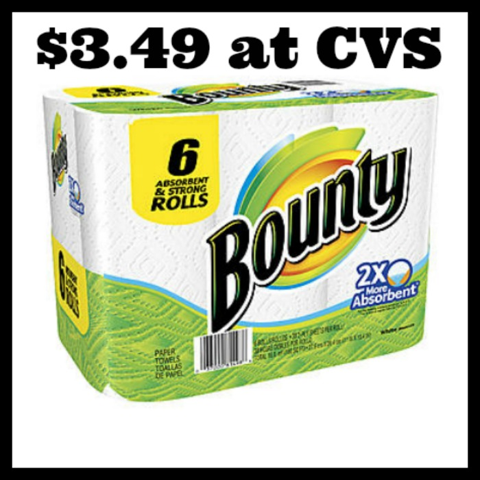 Bounty Paper Towels Cvs: WOW!! Bounty Paper Towels 6ct Only $3.49!