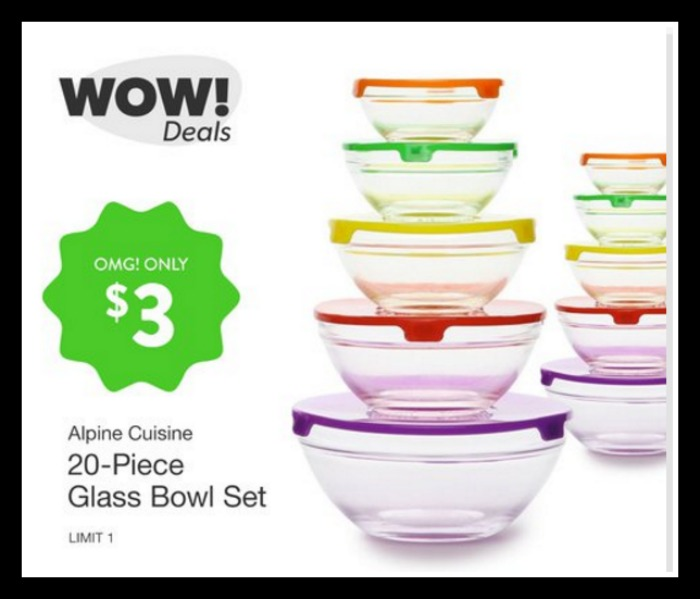 Alpine cuisine 20 piece glass bowl set only for Alpine cuisine glass bowl set