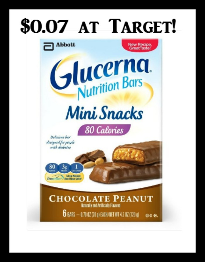 Target Glucerna Snack Bar Multipacks Only 0 07 Deal Mama