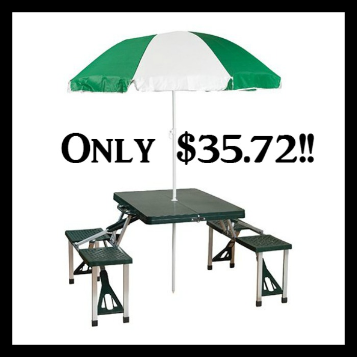 Stansport Picnic Table And Umbrella Combo Pack Only $35.72