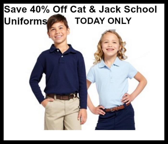 Target Save 40 Off Cat Jack School Uniforms Limit 20 Today