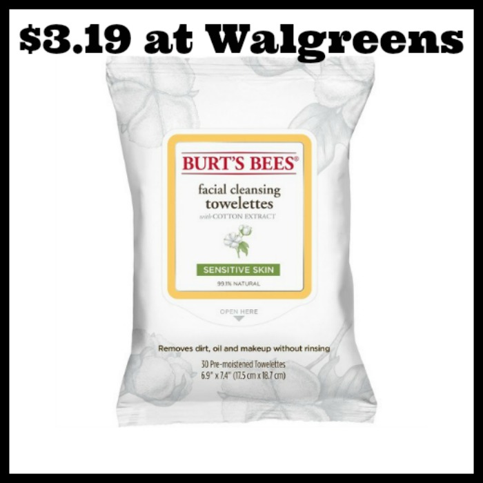 Walgreens - Burt's Bees Facial Cleansing Towelettes only
