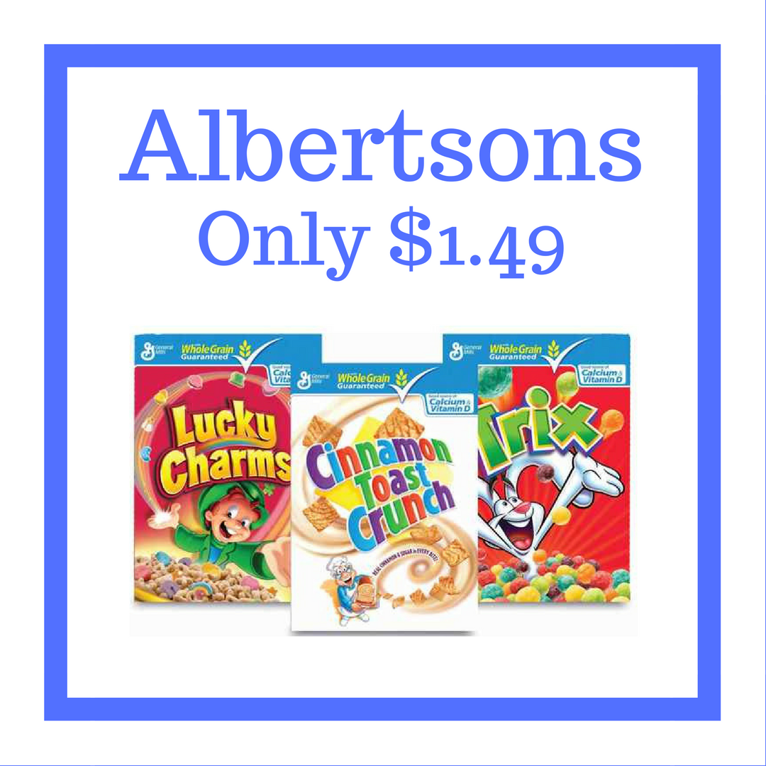 General Mills Cereal Only $1.49