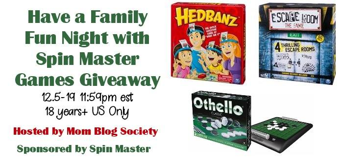 Have a Family Fun Night with Spin Master Games Giveaway!