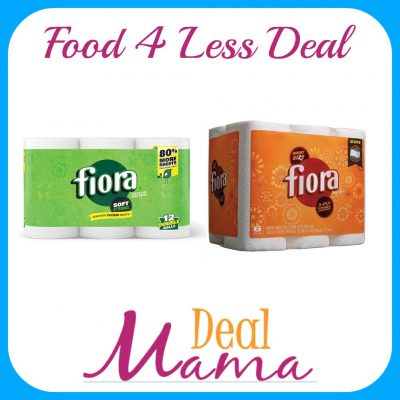 food 4 less - fiora paper towels or bath tissue only $2.99 - deal mama