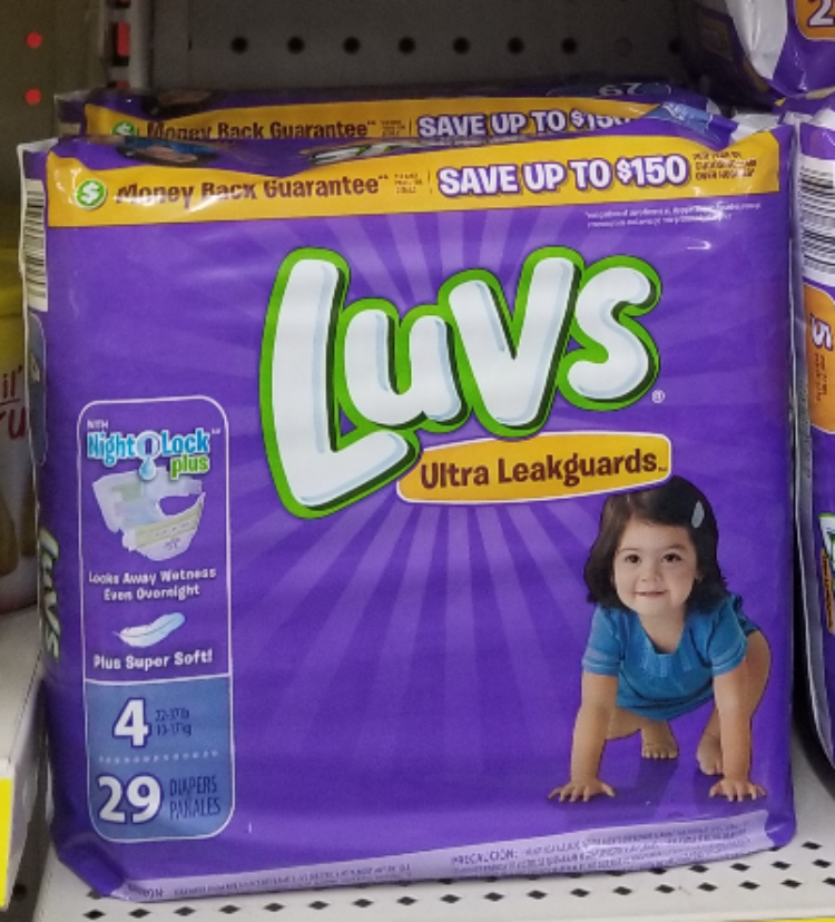 Luvs Diapers only 3.99 each at Kroger!