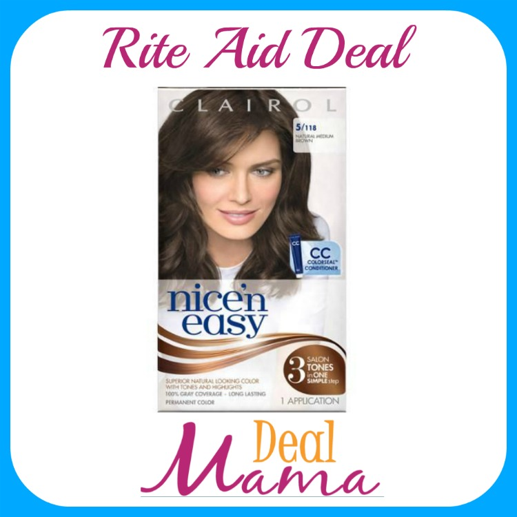 Rite Aid Nice N Easy Hair Color Boxes Only 350 Deal Mama