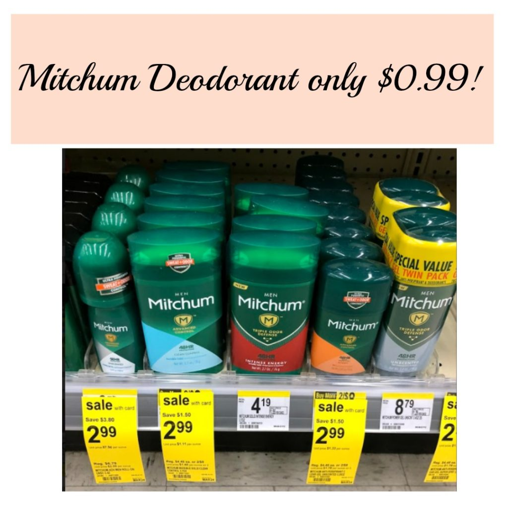 picture about Mitchum Printable Coupon named WOW!! Mitchum Deodorant basically $0.99!