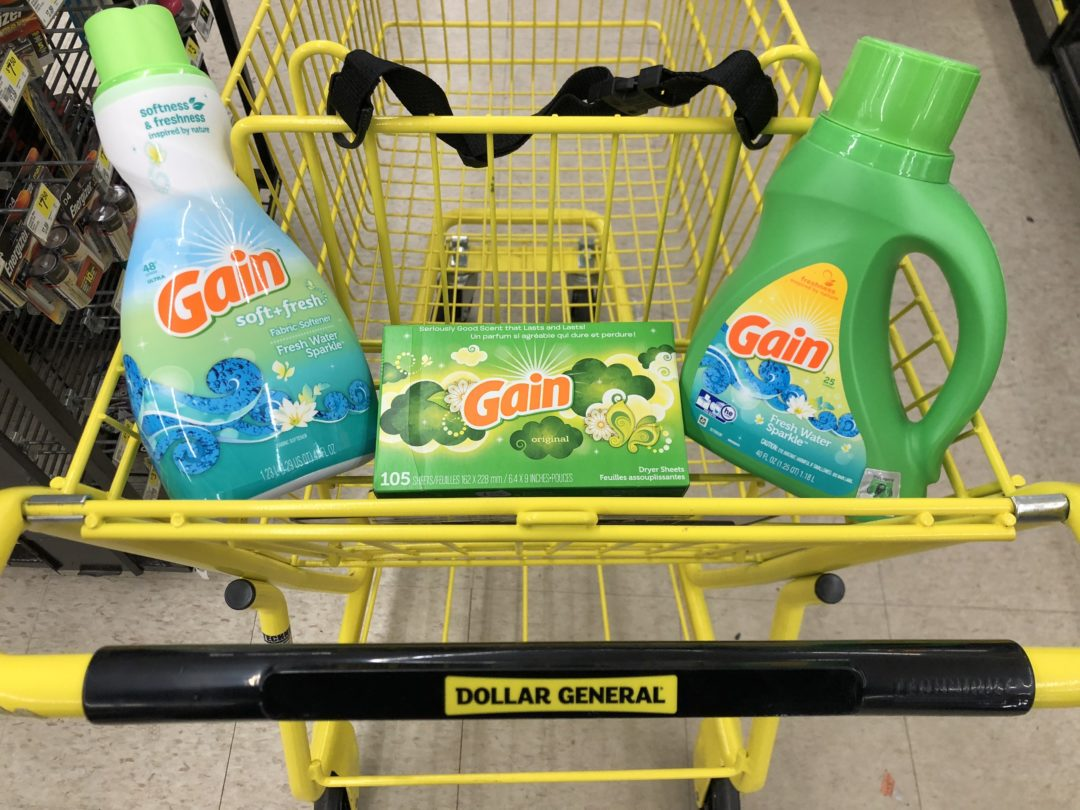 Gain Products only 2.95 at Dollar General!