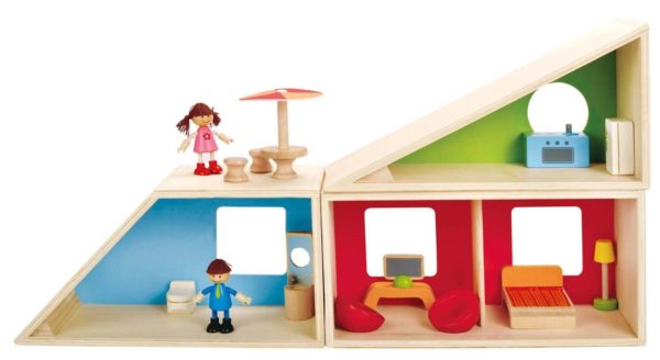 Lowest Price Ever Hape Geometrics Kid S Wooden Doll House Only