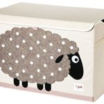3 Sprouts Toy Chest Beige Sheep