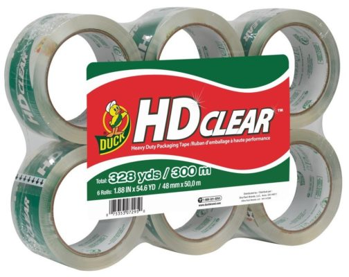 Duck HD Clear Heavy Duty Packaging Tape Refill