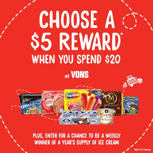 5 Reward Wyb 20 Of Unilever Ice Cream Win A Year Supply Of Free