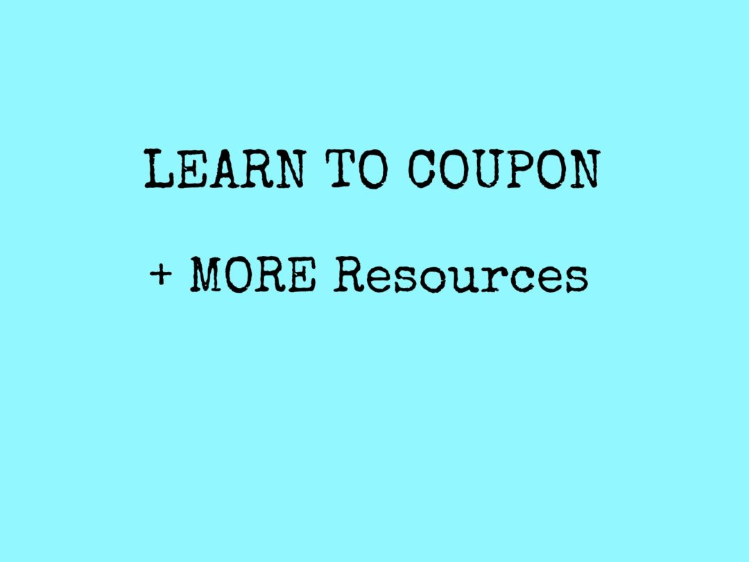 Coupon Basic Video – AND Resources!
