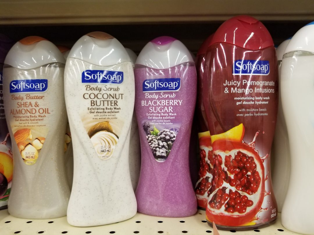 Softsoap or Irish Spring Body Wash only 1.50 each at Walgreens!