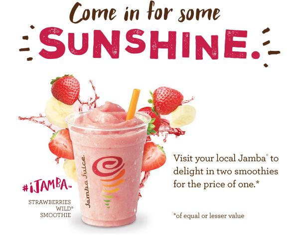 photograph regarding Jamba Juice Printable Coupon known as BOGO Jamba Juice Coupon!