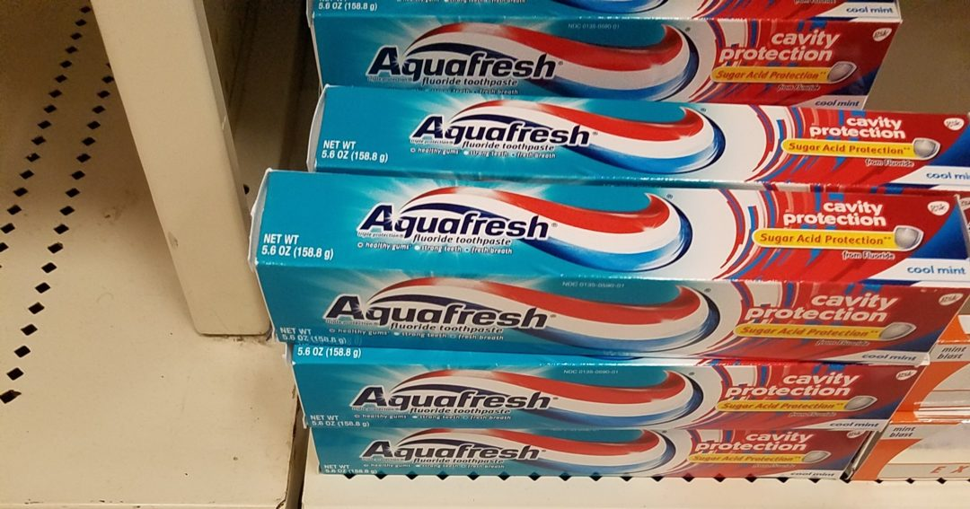 Aquafresh Toothpaste only 1.02 at Walmart!