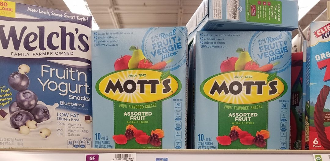 Betty Crocker and Motts Fruit Snacks only 0.99 at Kroger!