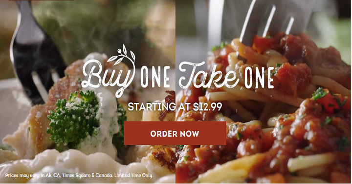 Olive Garden Buy One Take One Is Back Deal Mama