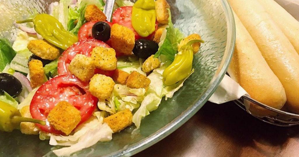 Unlimited soup salad and breadsticks just expires july 13th deal mama for Soup salad and breadsticks olive garden