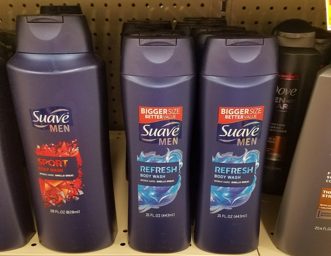 Suave Men Hair & Body 2 in 1 Body Wash only 0.50 at Dollar General!