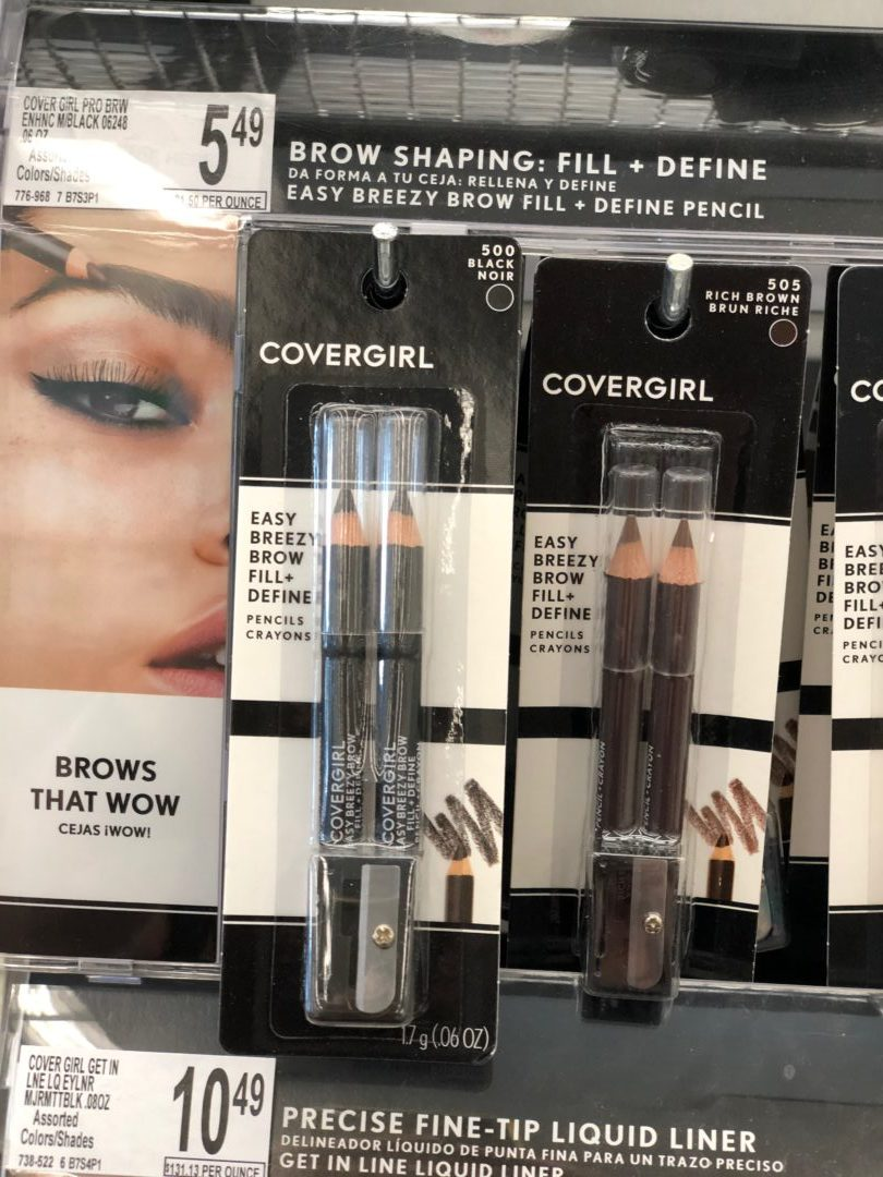 CoverGirl Fill & Define brow pencils only 1.29 each at CVS!