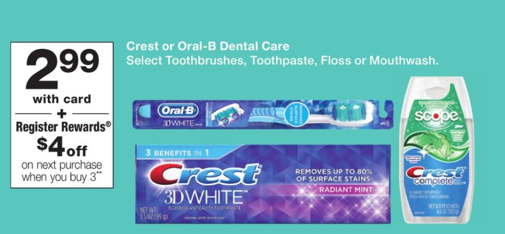 HOT Register Rewards deal on Crest/Oral B!! - DEAL MAMA