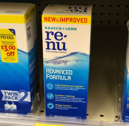 Bausch + Lomb Renu only 0.99 at Walgreens!