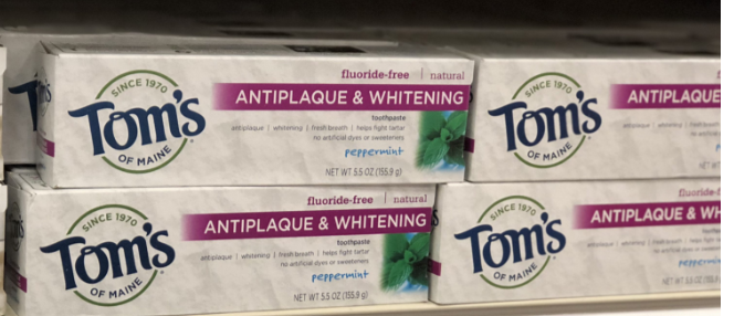 Tom's of Maine Toothpaste only 0.74 at Rite Aid