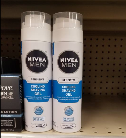 Nivea Men's Shave Gel only 0.38 at Walmart!
