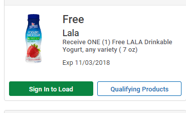 image relating to Ralphs Printable Coupons identified as Ralphs: Totally free LALA Drinkable Yogurt Materials - Package MAMA
