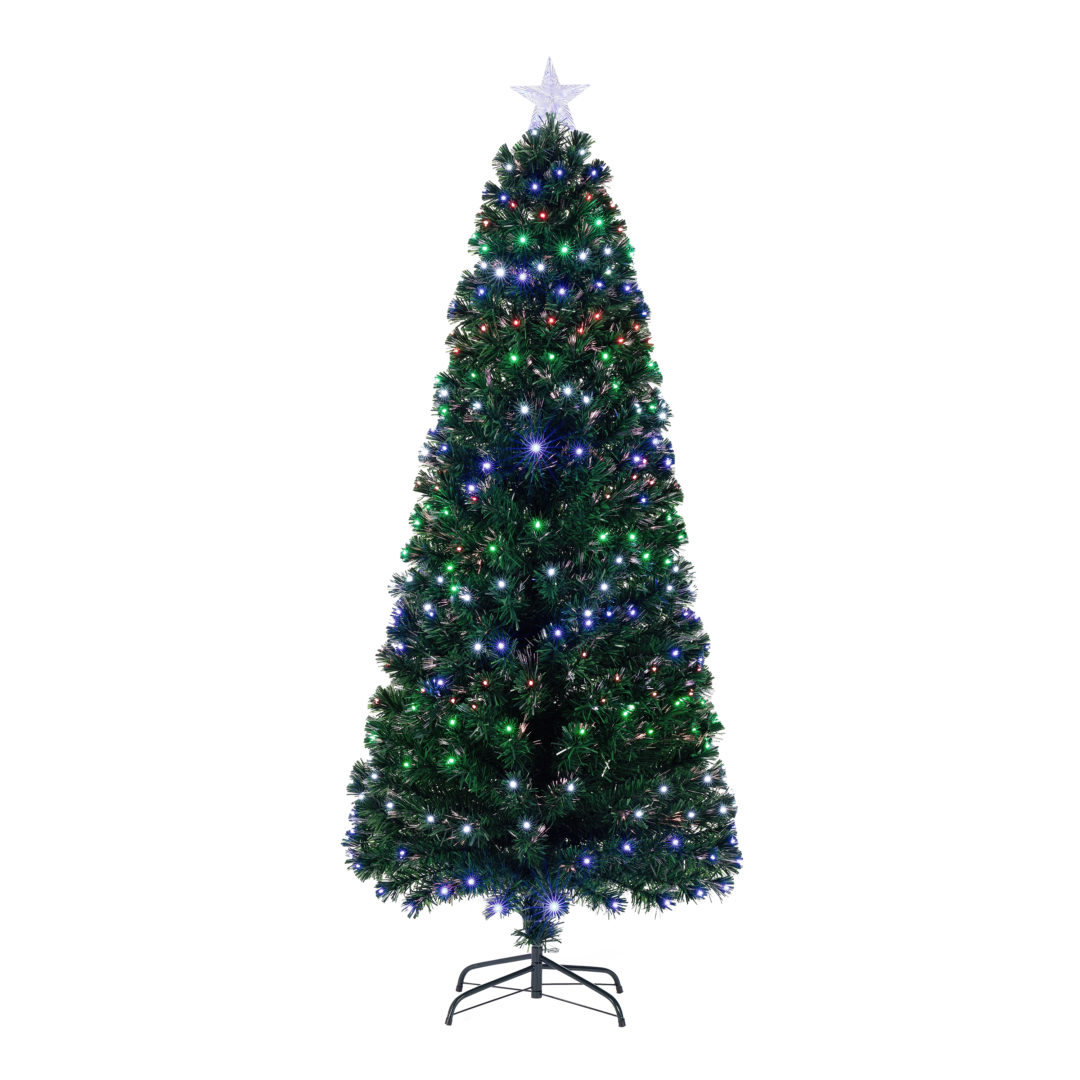Best Deal On Artificial Christmas Trees: Holiday Time Pre-Lit Fiber Optic Artificial Christmas Tree