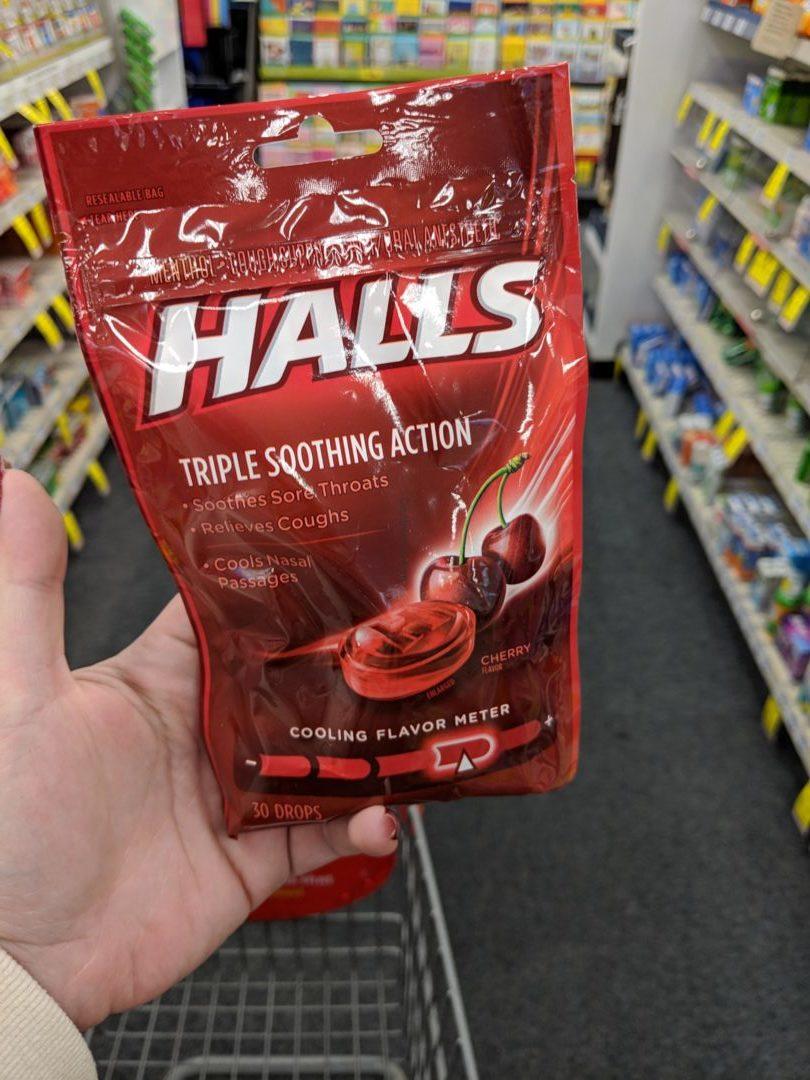 Halls Cough Drops only 0.94 at CVS!