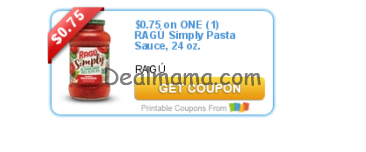 photo about Ragu Printable Coupons identified as Ragu very easily - Package MAMA