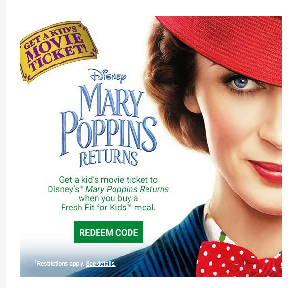 mary poppins coupons