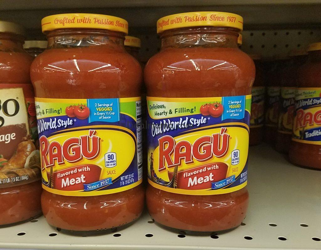 Ragu Pasta Sauce only 0.15 Per Jar At Kroger