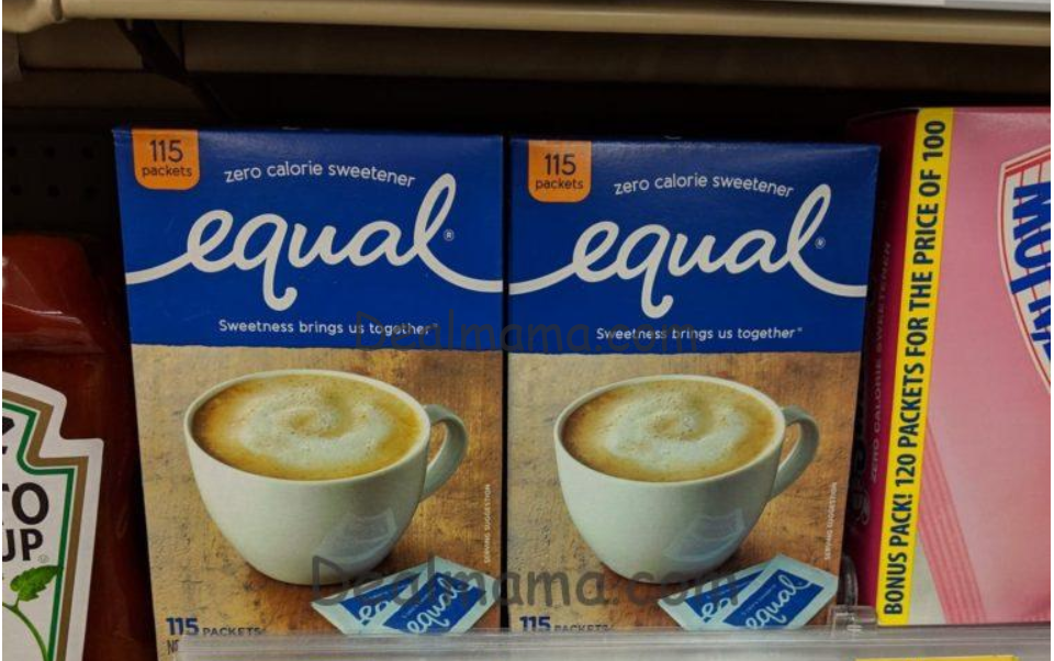 MONEYMAKER on Equal Sweetener 100-Count at Walgreens!