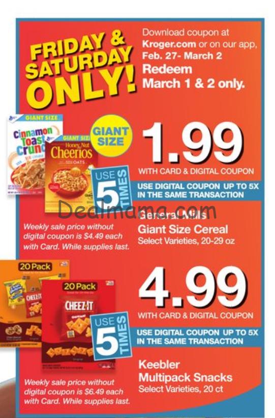 Kroger 2-day sale deals!!