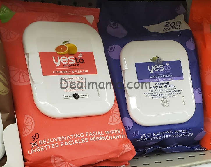 Yes To Facial Wipes Only 1.69 At Rite Aid
